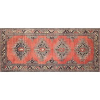 "1960s Turkish Oushak Rug, 5'2"" X 11'10"" For Sale"