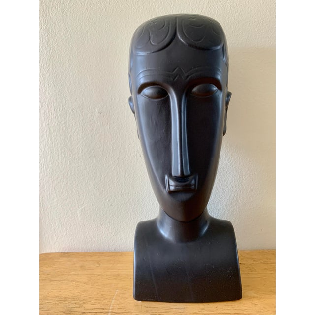 Elongated Ceramic Head Bust Decor Head For Sale - Image 10 of 13