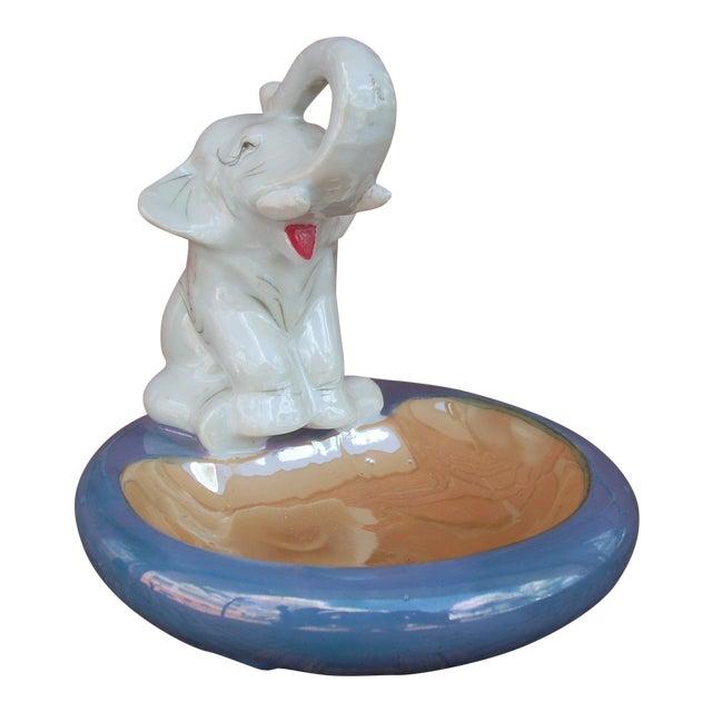 Ceramic Elephant Ashtray For Sale
