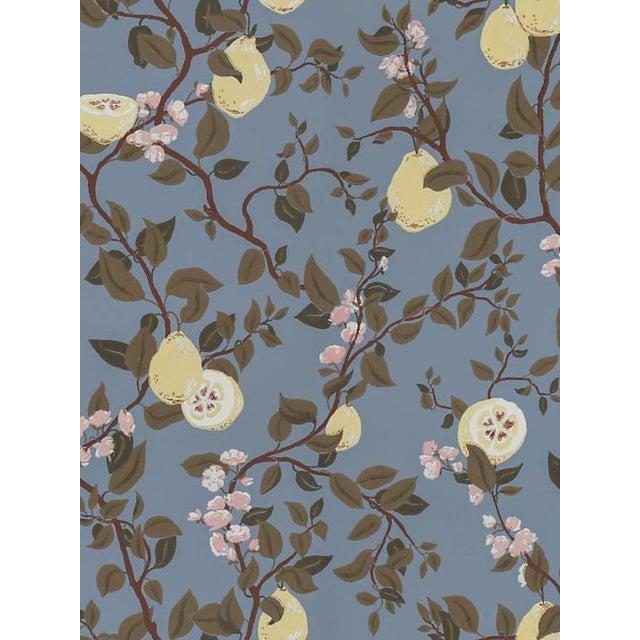 Traditional Scalamandre Kvitten, Light Blue Wallpaper For Sale - Image 3 of 3