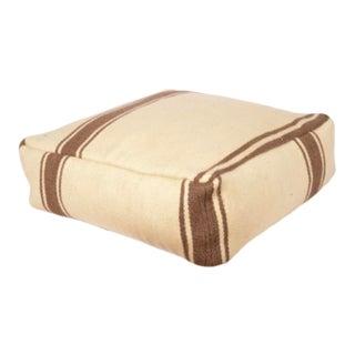 Vintage Anatolian Striped Floor Cushion. For Sale