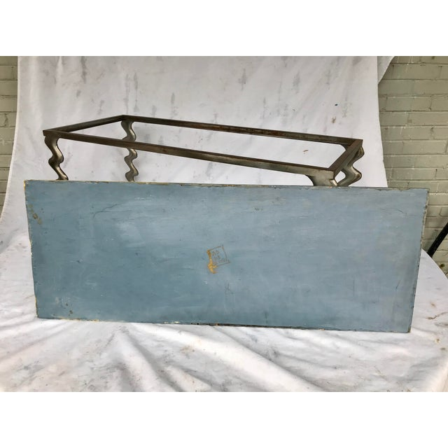 Studio Made Post Modernist Steel Cocktail Table For Sale - Image 10 of 13