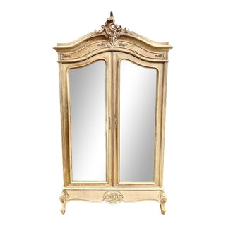 19th C. French Louis XV Bleached Armoire For Sale
