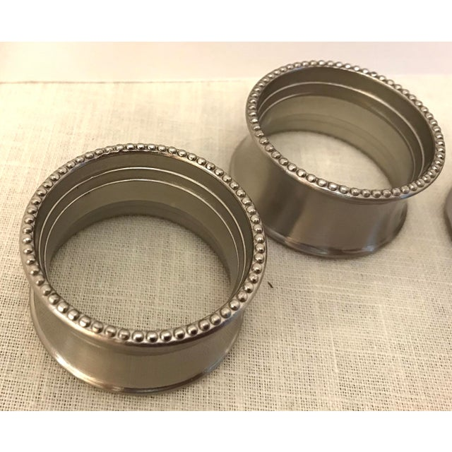 Late 20th Century Vintage Stainless Steel Napkin Rings - Set of 4 For Sale In Dallas - Image 6 of 7