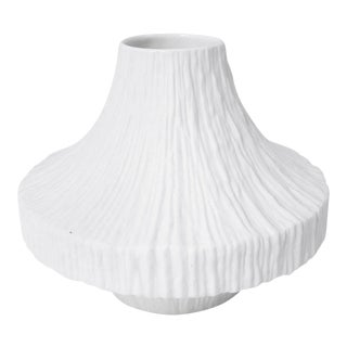 Vintage Heinrich & Co. Modernist White Bisque Vase For Sale
