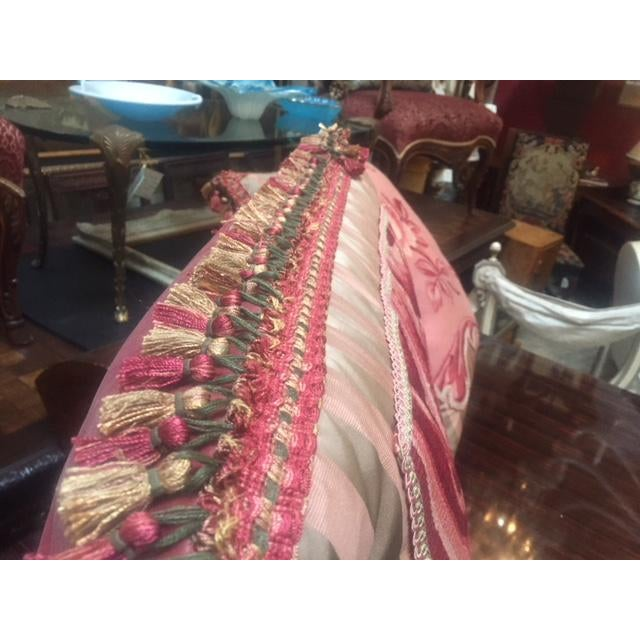 19th C. French Pink Aubusson Pillows For Sale - Image 4 of 7
