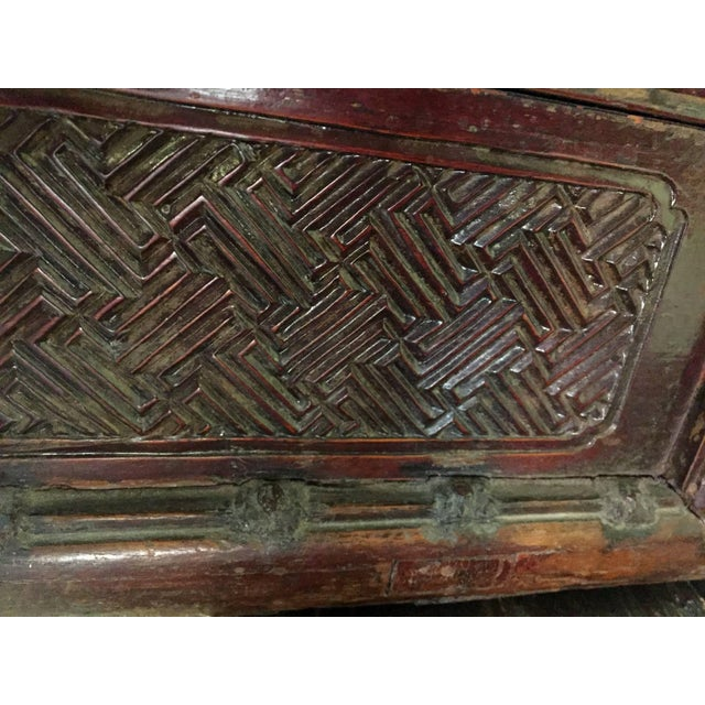 Metal 19th Century Chinese Wedding Basket, Three-Tier, Carved, Large For Sale - Image 7 of 11