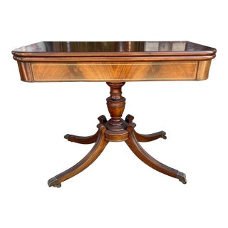 Flip Top Mahogany Game Table Circa 1930 For Sale