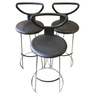 Italian Open-Back Bar Stools Late-20th Century For Sale