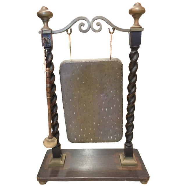Victorian Chinese Bronze and English Oak Dinner Gong For Sale - Image 11 of 11