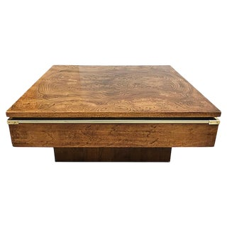 MCM Burlwood Coffee Table For Sale