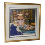 "Image of Charles Bragg ""King of Me's"" Limited Edition Signed Serigraph For Sale"