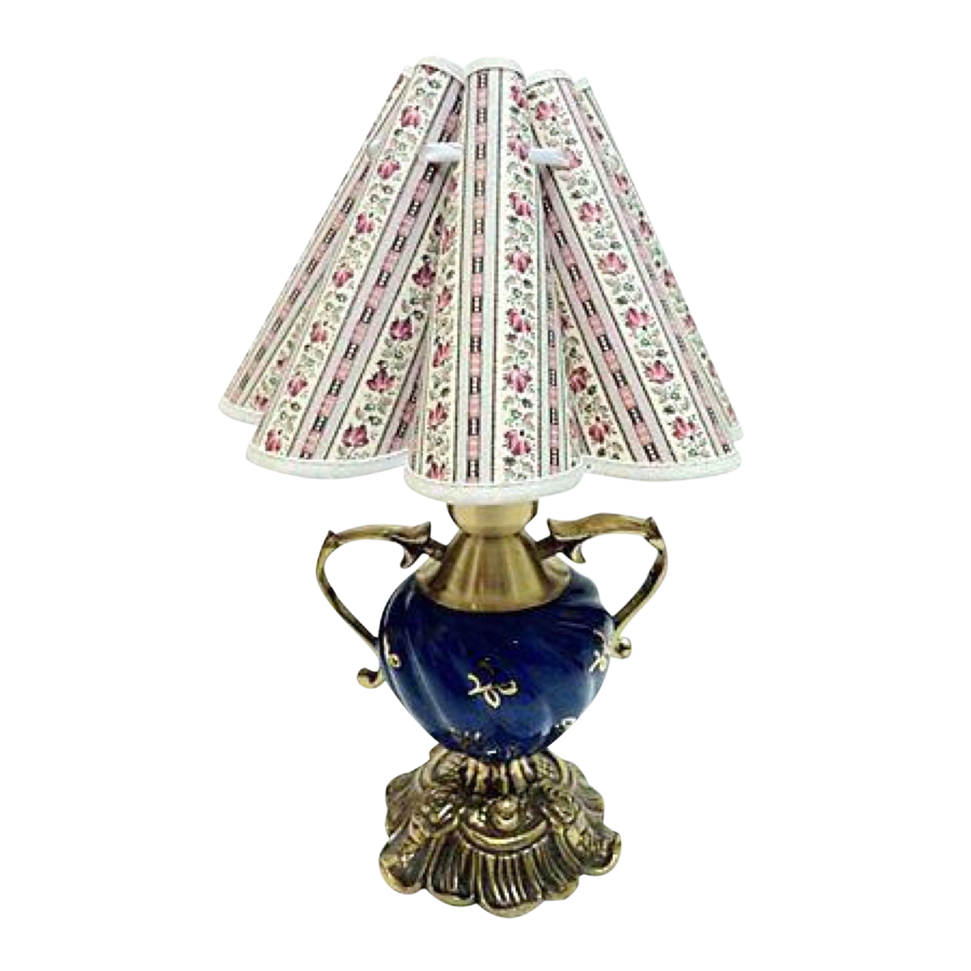 Gustavian Style Blue Gold Table Lamp Chairish