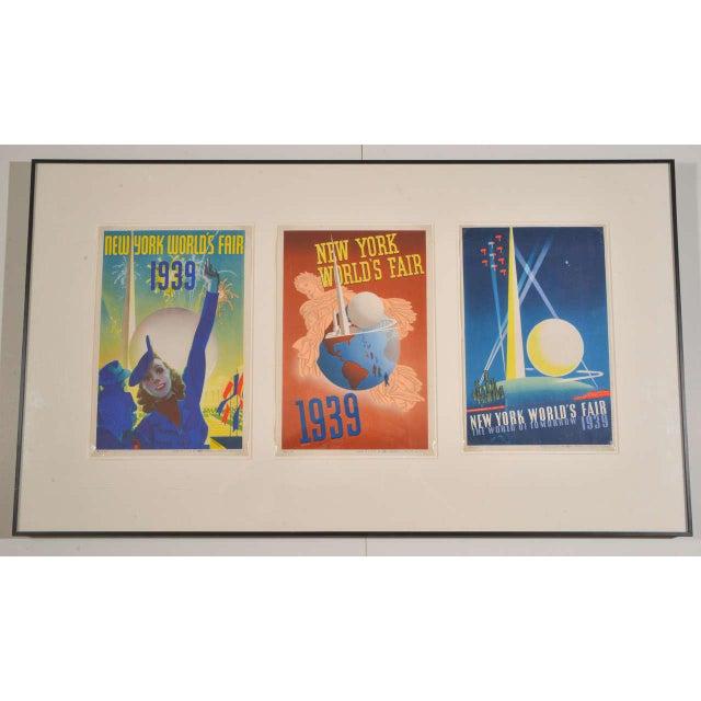 Art Deco Machine Age Original 1939 New York World's Fair Posters Triptych Here are the three classic award-winning Fair...