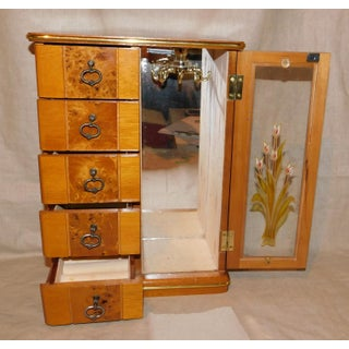 Vintage Wood and Stained Glass Jewelry Box Preview