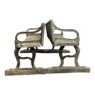 Early 20th Century Vintage American Benches- A Pair For Sale