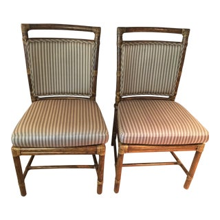McQuire Rattan Chairs - (2) Set of 2 For Sale