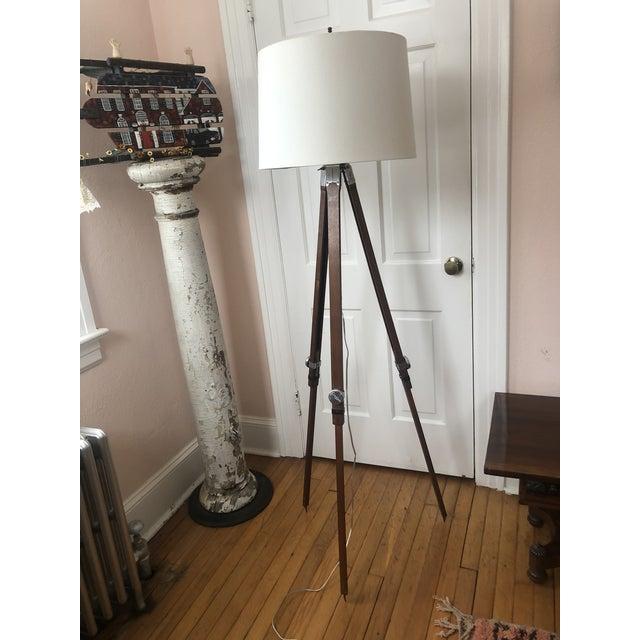 Industrial Industrial Surveyors Floor Lamp For Sale - Image 3 of 13