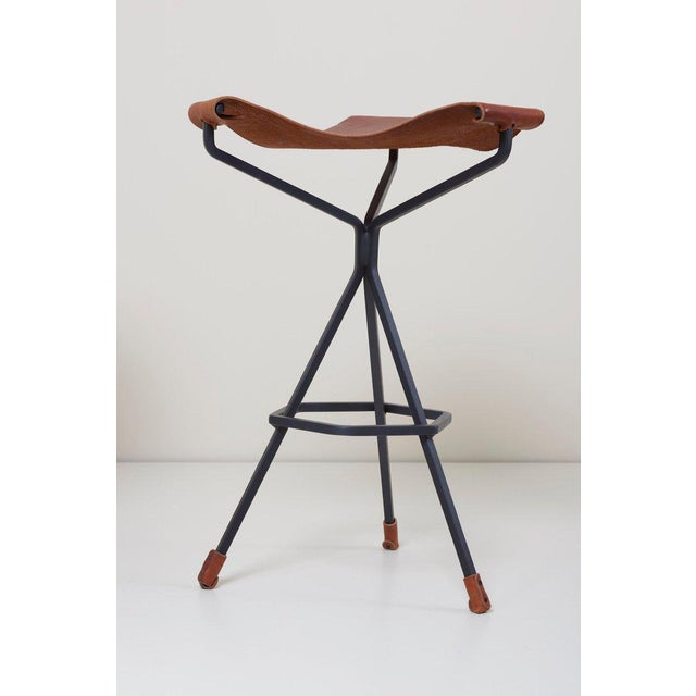 2010s Set of Three Bar Stools by Dan Wenger, Us For Sale - Image 5 of 8