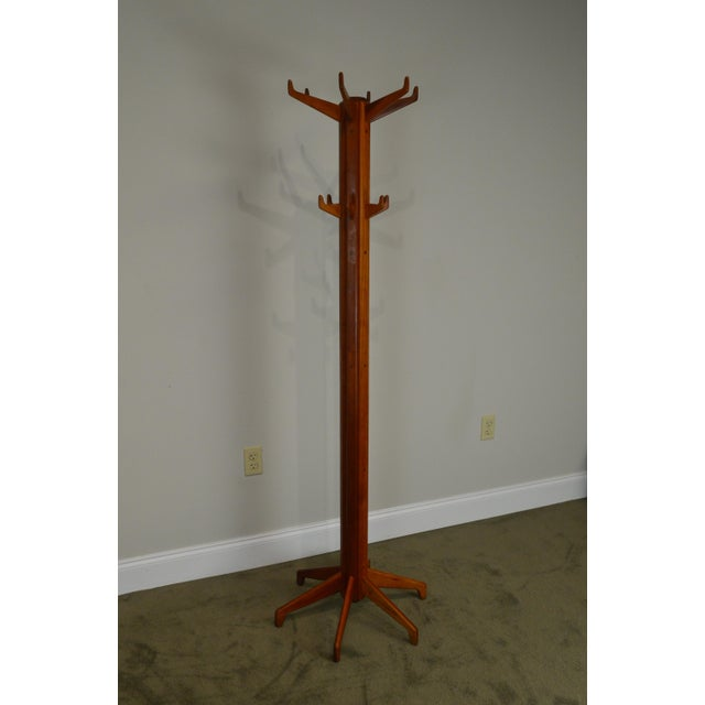 Brown Studio Crafted Solid Cherry Clothes Tree For Sale - Image 8 of 13