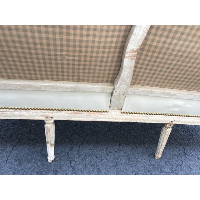 18th Century French Louis XVI Settee For Sale - Image 9 of 12