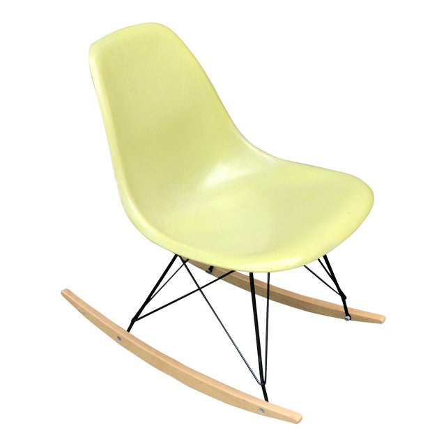 Mid Century Eames Armless Shell Rocker For Sale
