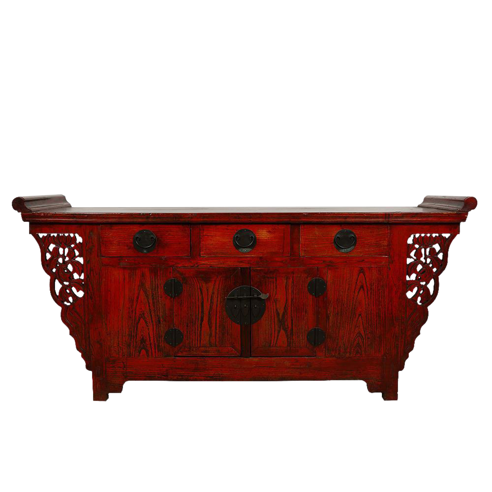 Chinese Antique Carved Sideboard/Buffet Table