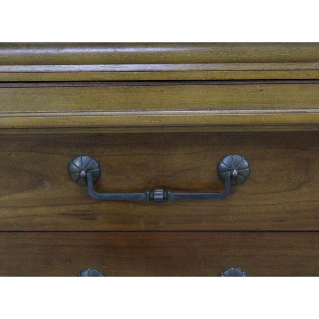 Mid-Century Modern Walnut Six Dresser With Brass Hardware For Sale - Image 9 of 12