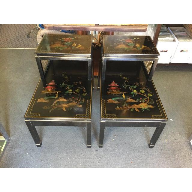 Chinoiserie Signed Katherine Henick Side Table - A Pair For Sale - Image 9 of 9