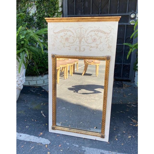 Hollywood Regency Palladio Hollywood Regency Trumeau Mirror For Sale - Image 3 of 5