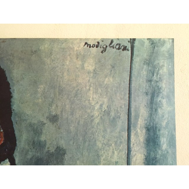 """Paper Amadeo Modigliani Rare Vintage Mid Century Large Lithograph Print """" Gypsy Woman With a Baby """" 1919 For Sale - Image 7 of 10"""