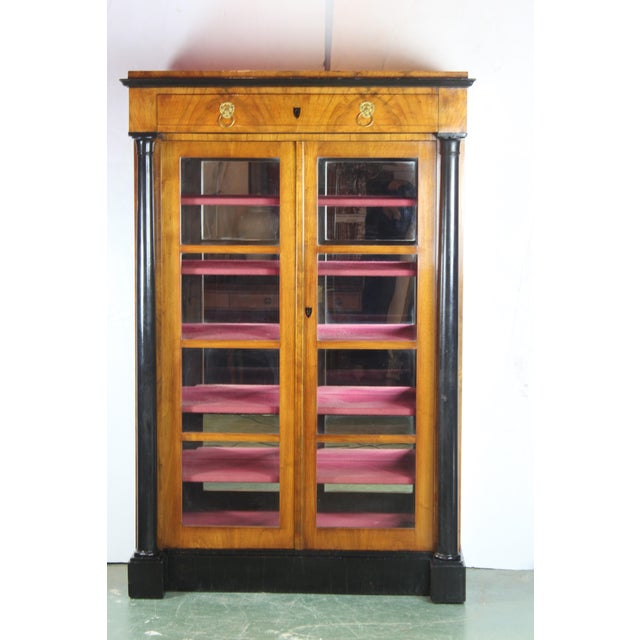 19th Century English Biedermier Bookcase For Sale In Los Angeles - Image 6 of 6
