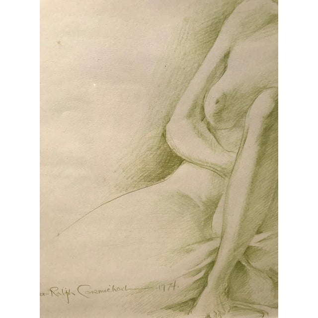 1970s Robert Ralph Carmichael 1970s Vintage Nude Woman Graphite Drawing For Sale - Image 5 of 8