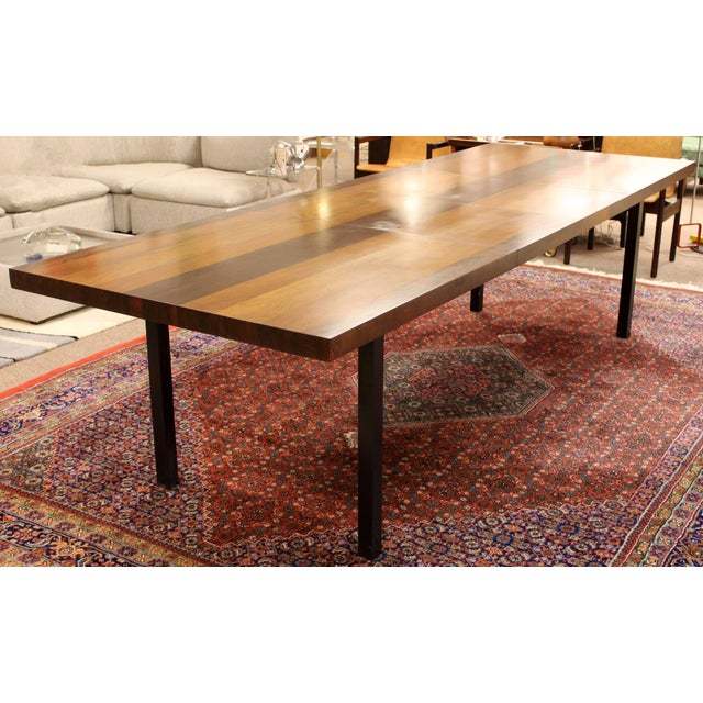 Mid-Century Modern 1960s Mid-Century Modern Milo Baughman for Directional Walnut Rosewood Dining Table For Sale - Image 3 of 10