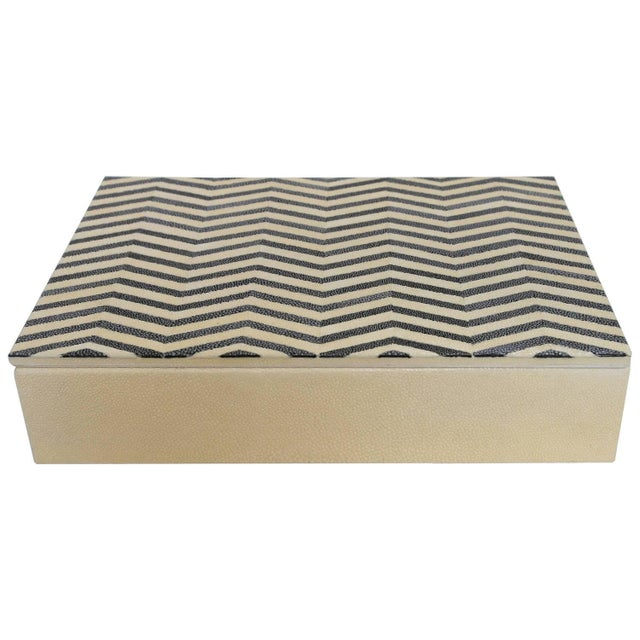 Animal Skin Ivory and Black Shagreen Box by Fabio Ltd For Sale - Image 7 of 7
