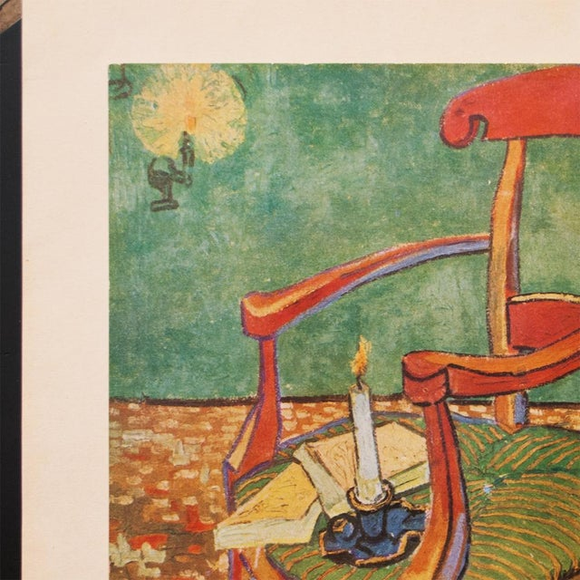 "1940s C.1940s Van Gogh, ""Gauguin's Armchair"" Parisian Lithograph For Sale - Image 5 of 11"