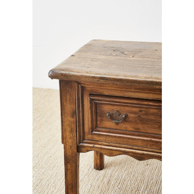 19th Century English Country Georgian Oak Sideboard Dresser For Sale - Image 4 of 13