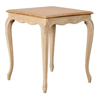 French Small Painted Square Side Table For Sale