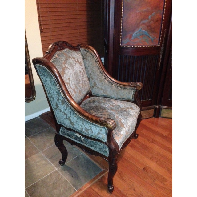 Handcrafted French Louis XV Style Bergere Chair - Image 10 of 10