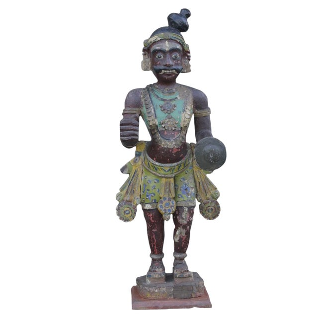 Antique Tribal Warrior Statue For Sale