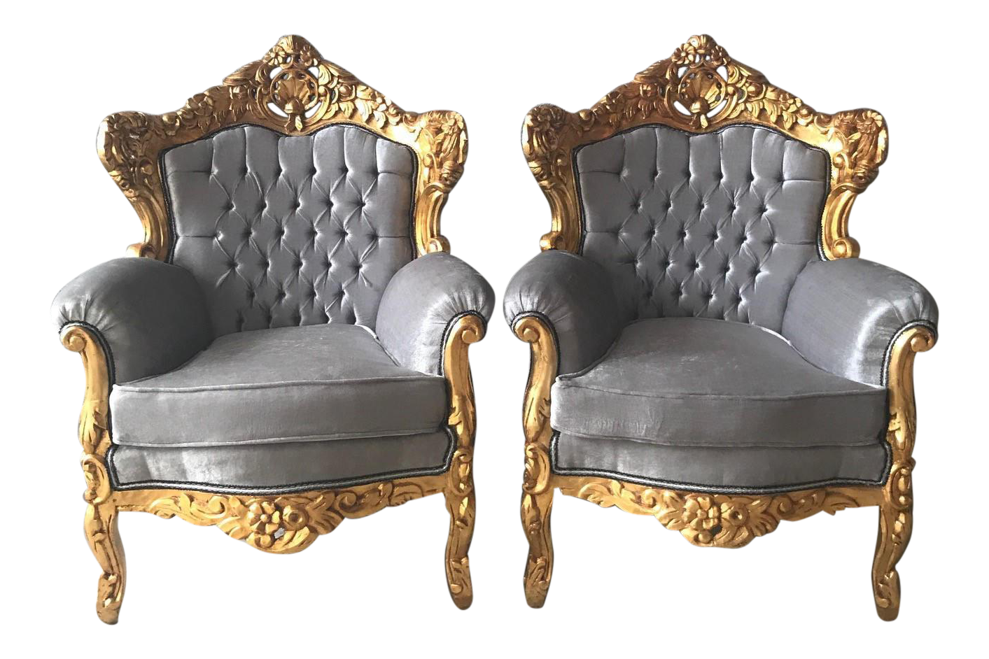 French Louis XVI Style Chairs   A Pair