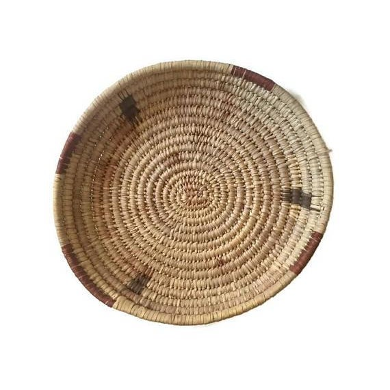 Vintage Native American Tohono Woven Basket For Sale - Image 11 of 11