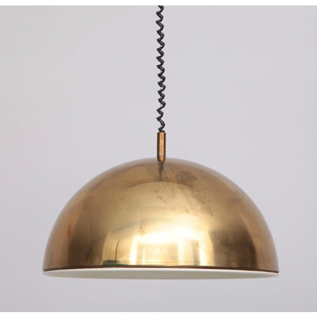 Heavy and high quality pendant lamp with a beautiful patina with no dents. One E27 / model A. Wiring is in good condition,...