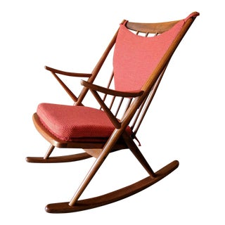 Mid Century Frank Reenskaug for Brahmin Danish Rocking Chair