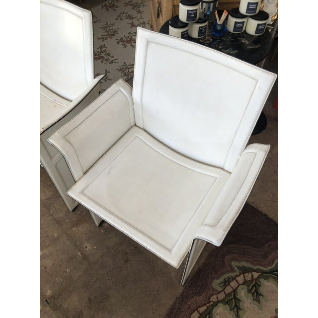 Modern Vintage Tito Agnoli for Matteo Grassi Korium Leather Chairs - A Pair For Sale - Image 3 of 13