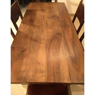 Spanish Colonial Style Wrought Iron Trestle Dining Table Preview