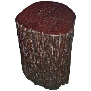 Tree Trunk Side Table For Sale