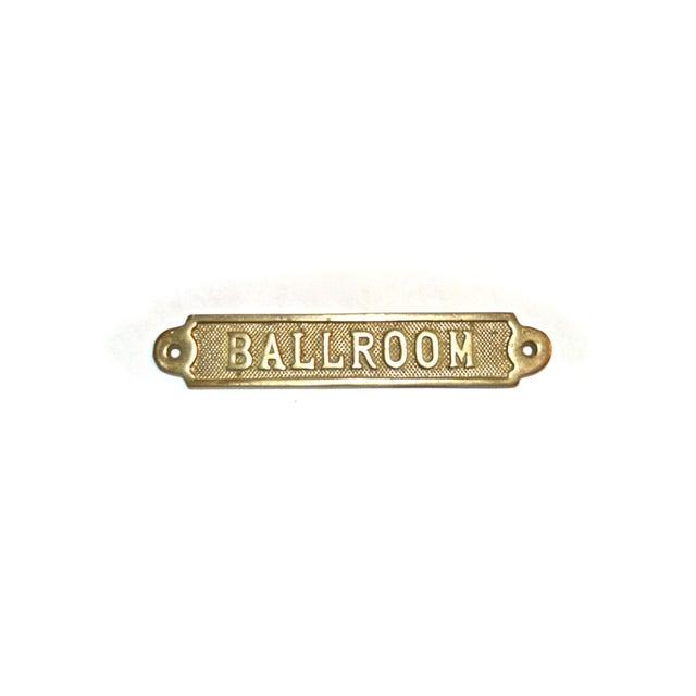 Vintage Ballroom Brass Plaque For Sale - Image 6 of 9