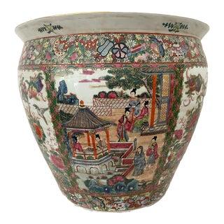 """Rose Medallion Jardiniere/Cache Pot /Planter 16.25"""" H For Sale"""