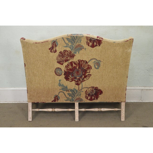 Drexel Heritage Gentlemans Home Floral Upholstered Chippendale Settee Loveseat For Sale In Philadelphia - Image 6 of 13